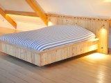 Ontwerp & realisatie steigerhouten bed
